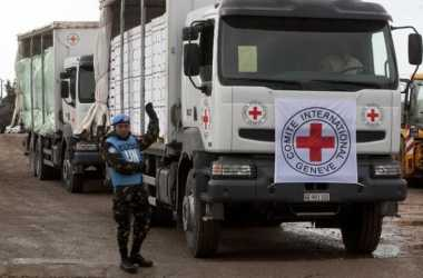 Palang Merah Kirim 70 Truk Bantuan Kemanusiaan ke Suriah