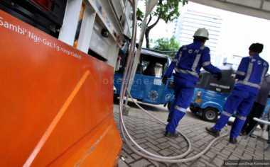 \Tiap Hari, 600 Bajaj Biru Sambangi Stasiun Pengisian Gas PGN di Monas\