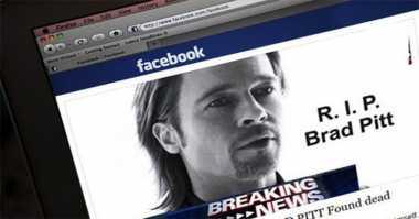 Hacker Manfaatkan Berita Hoax Kematian Brad Pitt