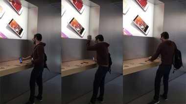 Pria Ngamuk Hancurkan iPhone dan Mac di Apple Store