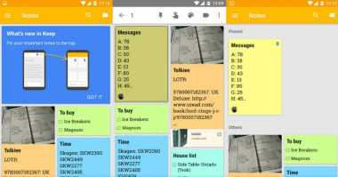 Update Google Keep Bawa Kemampuan Beri Pin Catatan