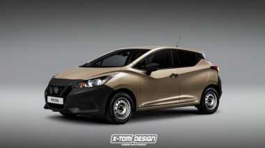Tampilan Nissan March Terbaru Jika Memakai Pelek Kaleng