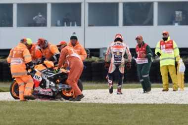 Marc Marquez Enggan Salahkan Michelin soal Insiden di Phillip Island