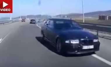 Aksi Balap Liar, BMW E36 Hilang Kendali dan Melayang di Udara