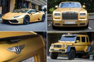 WNI di Inggris Dapat Warisan Empat Mobil Berlapis Emas
