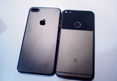 Ketika Google Pixel Diadu Cepat dengan iPhone 7 Plus