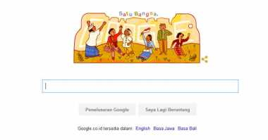 Google Doodle Rayakan Hari Sumpah Pemuda