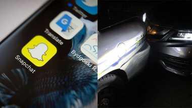 Khusyuk Selfie Snapchat, Gadis Ini Tabrak Mobil Polisi