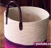 Berkreasi Membuat Keranjang Antik Serbaguna dari Tali Tambang