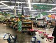 Truk Hantam Supermarket Tewaskan Tiga Orang