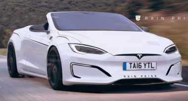 Begini Jadinya jika Mobil Listrik Tesla Model S Dijadikan Convertible