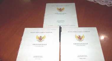 \Presiden Serukan Reformasi BPN, Kebut Proses Sertifikasi\