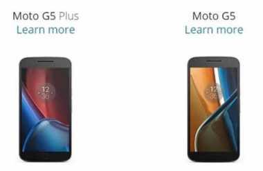 Spesifikasi Moto G5 Tantang OnePlus 3T