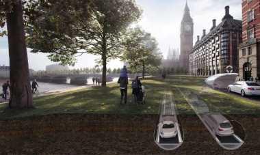 \Arsitek London Rancang Jalur Mobil Inovatif di Bawah Tanah\