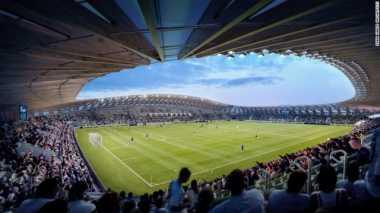 Klub Sepakbola Inggris Bangun Stadion Pertama di Dunia dari Kayu