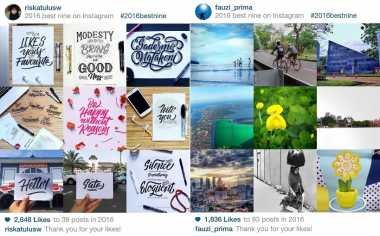 Cara Membuat Best Nine 2016 Instagram