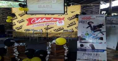 Perayaan Ulang Tahun In & Out Urban Eatery Bandung, MNC Play Persembahkan Internet Gratis