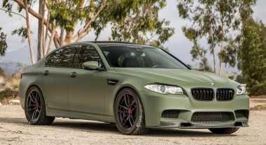 """BMW M5 Jadi Seram dengan """"Baju"""" Tentara"""