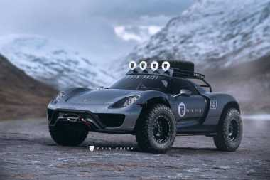 Ini Hasilnya jika Porsche 918 Spyder Diubah Jadi Offroad