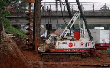 \Progres Pembangunan LRT Jabodebek Baru 14%\
