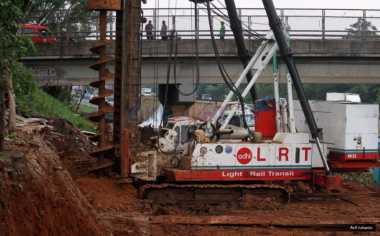 Progres Pembangunan LRT Jabodebek Baru 14%