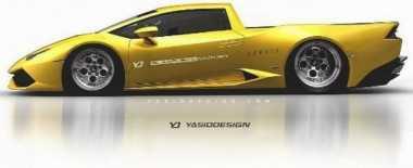 Supercar Lamborghini Dibuat Model Pikap