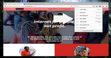 Firefox Uji Kemampuan SnoozeTabs