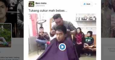 Ganas! Tukang Pangkas Rambut Ini Bikin Ciut Pengunjung