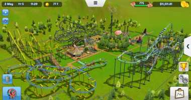 Game RollerCoaster Tycoon Touch Meluncur di iOS