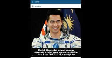 Kegantengan Astronot Muslim Ini Lelehkan Hati Netizen