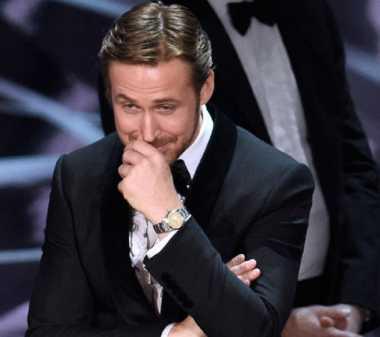 Kalah dari 'Moonlight', Ryan Gosling Senyum Simpul di Panggung Oscar