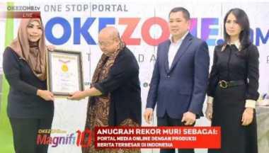 1 Dekade, Okezone.com Masuk Rekor MURI