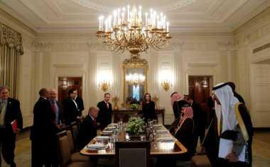 100 HARI TRUMP: Presiden AS Ajak Pangeran Arab Saudi Makan Siang di Gedung Putih