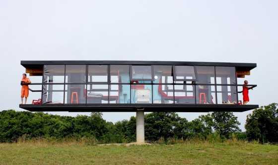 Keren! Rumah Ini Bisa Berputar 360 Derajat dengan Sentakan Angin