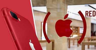 Apple Dukung Program Amal Munculkan iPhone Merah