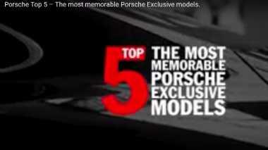 Lima Model Terbaik Racikan Porsche Exclusive