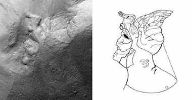 Sebuah Pahatan di Mars Diduga sebagai Mumi Alien
