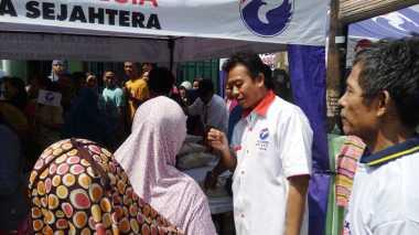DPC Perindo Koja Bahagia Banyak Warga Ikut Bazar Murah