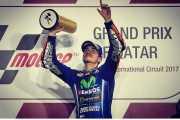 Lihat Valentino Rossi Tampil Impresif di GP Qatar 2017, Vinales Sempat Takut Dibalap