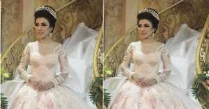 Takjub! Gaun Pengantin Wanita Ini bak Cinderella