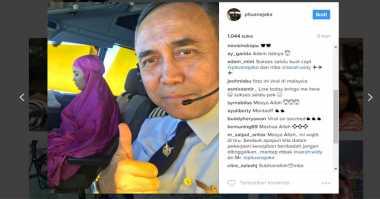 Salat di Pesawat, Pilot Cantik Ini Dipuji Warganet
