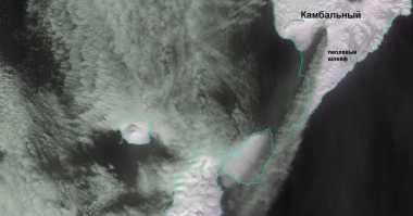 Gunung Api Rusia Tiba-Tiba Meletus Terlihat dari Luar Angkasa