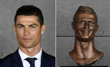 Tak Mirip, Patung Wajah Cristiano Ronaldo Disamakan dengan Patung Harimau Cisewu