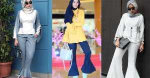 Sontek Padu Padan Bell Bottom Pants ala Hijabers
