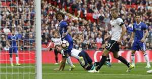 Sundulan Hary Kane Antarkan Spurs Samakan Kedudukan 1-1 Lawan Chelsea