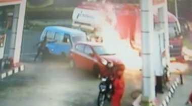 Motor Picu Letupan Api di SPBU Salatiga, Benarkah karena Knalpot Tak Standar?