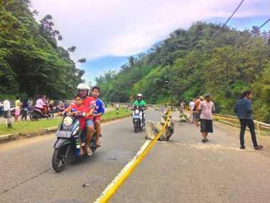 Catat! Ini Pengalihan Arus Jalur Cirebon-Kuningan Imbas Jalan Ambles