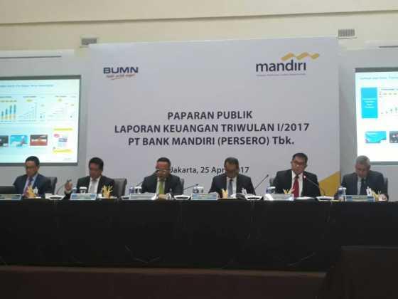 Laba Bank Mandiri Rp4,1 Triliun, Naik 6,9% di Kuartal I