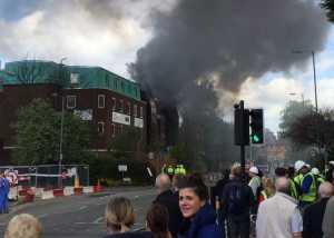VIDEO: Ngeri! Kebakaran Melanda Rumah Sakit Khusus Kanker di Manchester