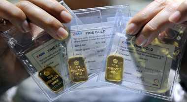 \Turun Rp1.000, Emas Antam Dijual Rp599.000\